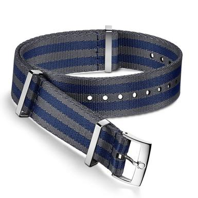 OMEGA Blue and Grey Nato Watch Strap