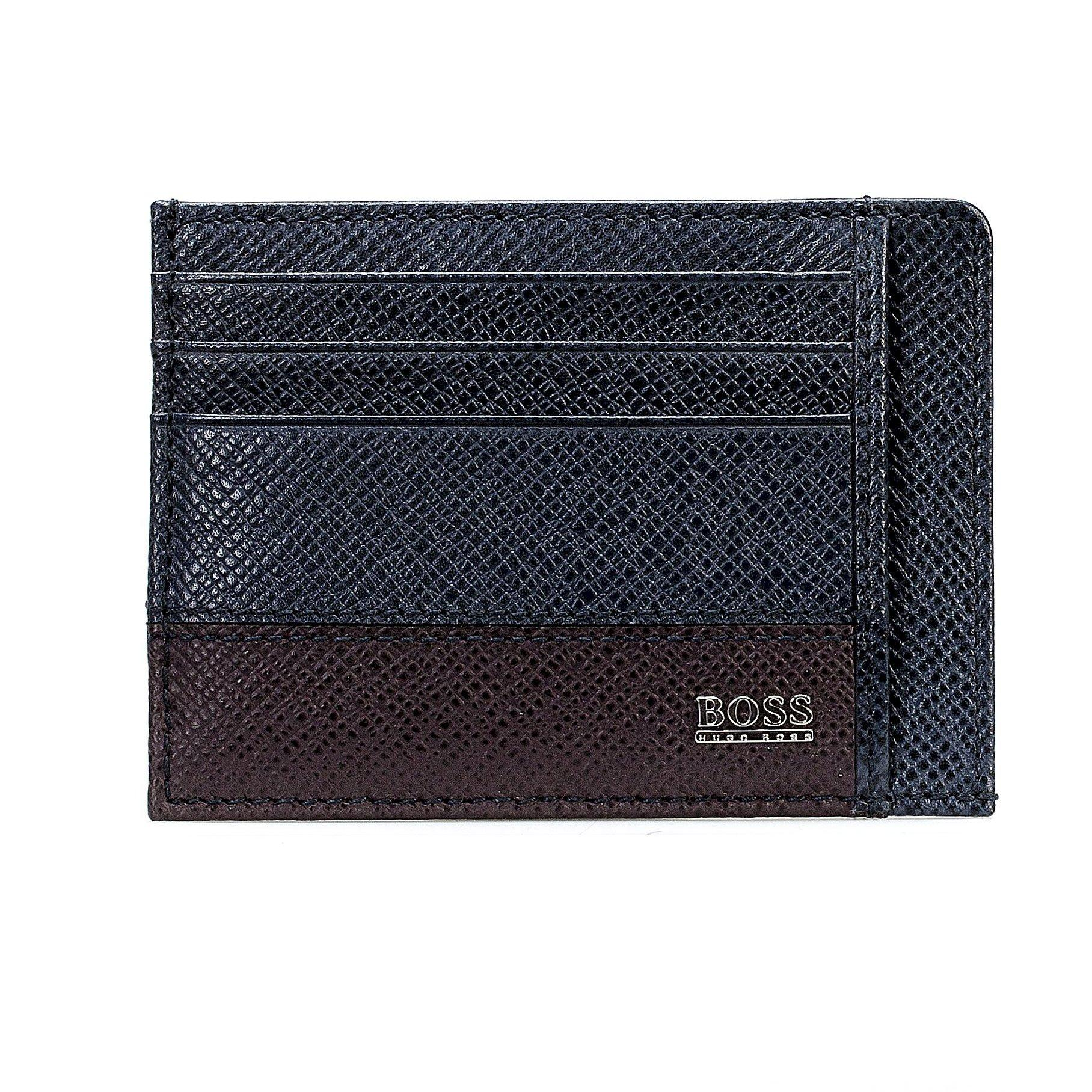 BOSS Navy Leather Wallet