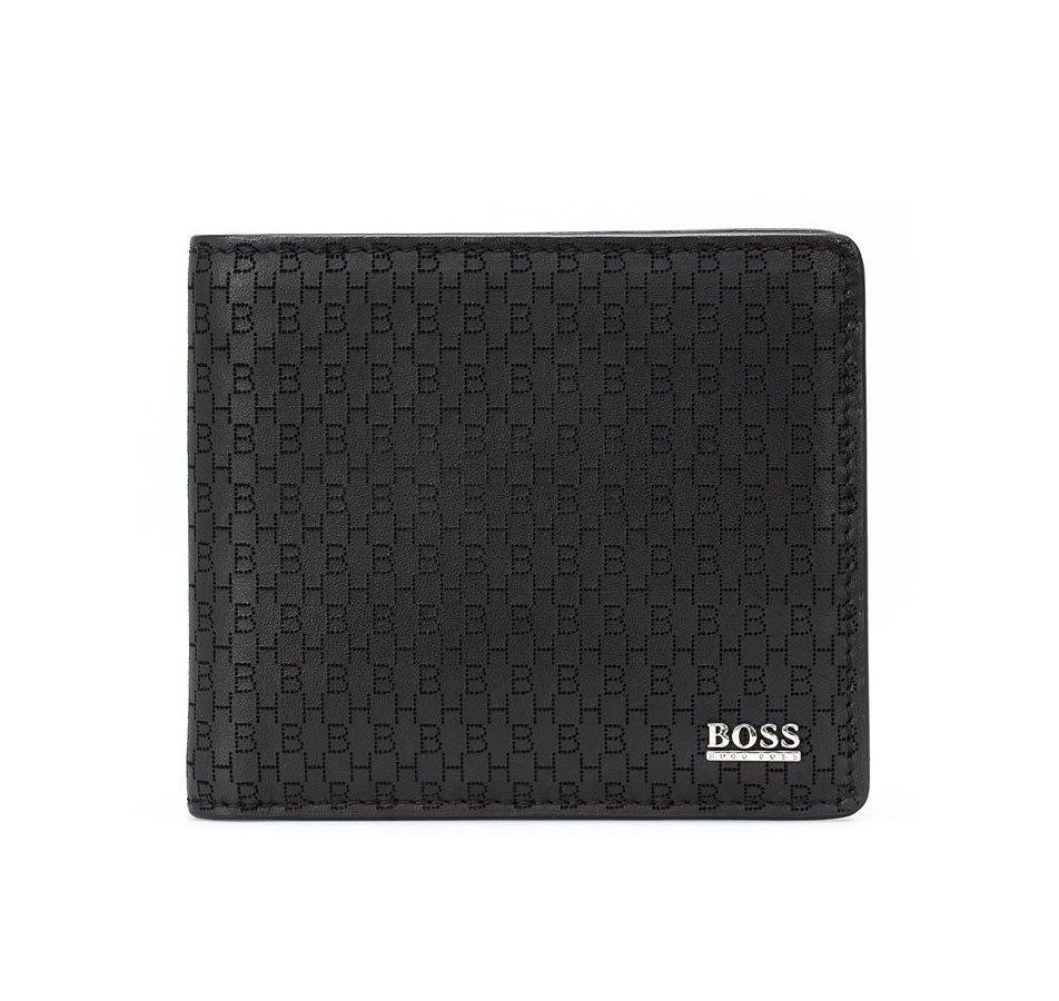 BOSS Crosstown Black Leather Wallet