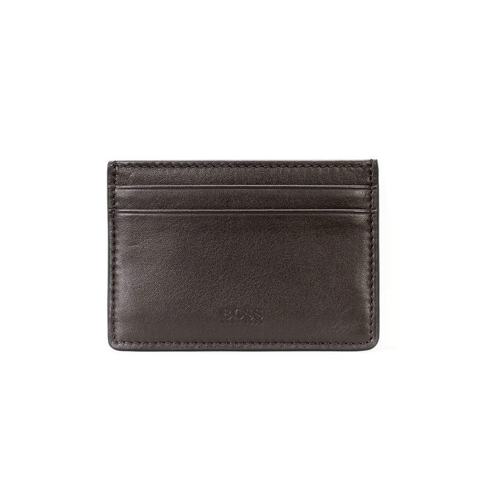 BOSS Majestic Brown Leather Card Holder