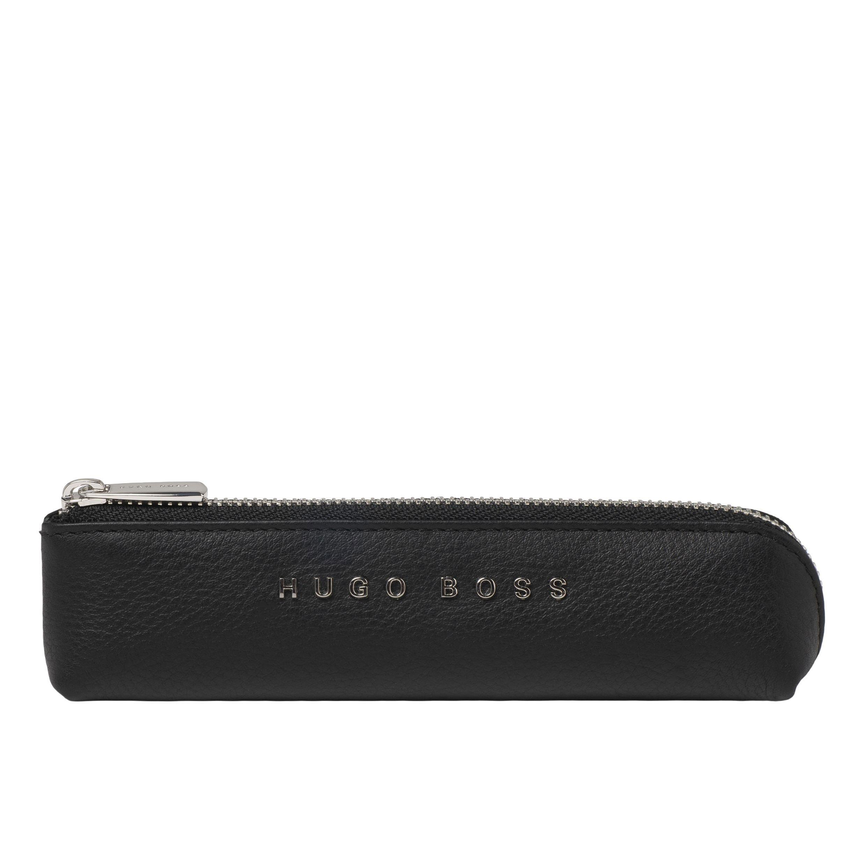 BOSS Black Leather Pen Case