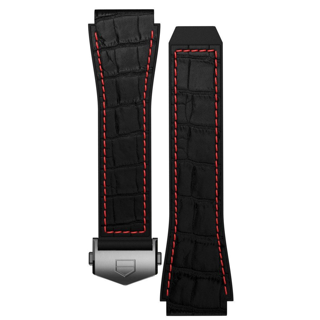 TAG Heuer Connected 2020 Black Crocodile Strap