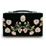 WOLF Zoe Medium Green Floral Jewellery Box