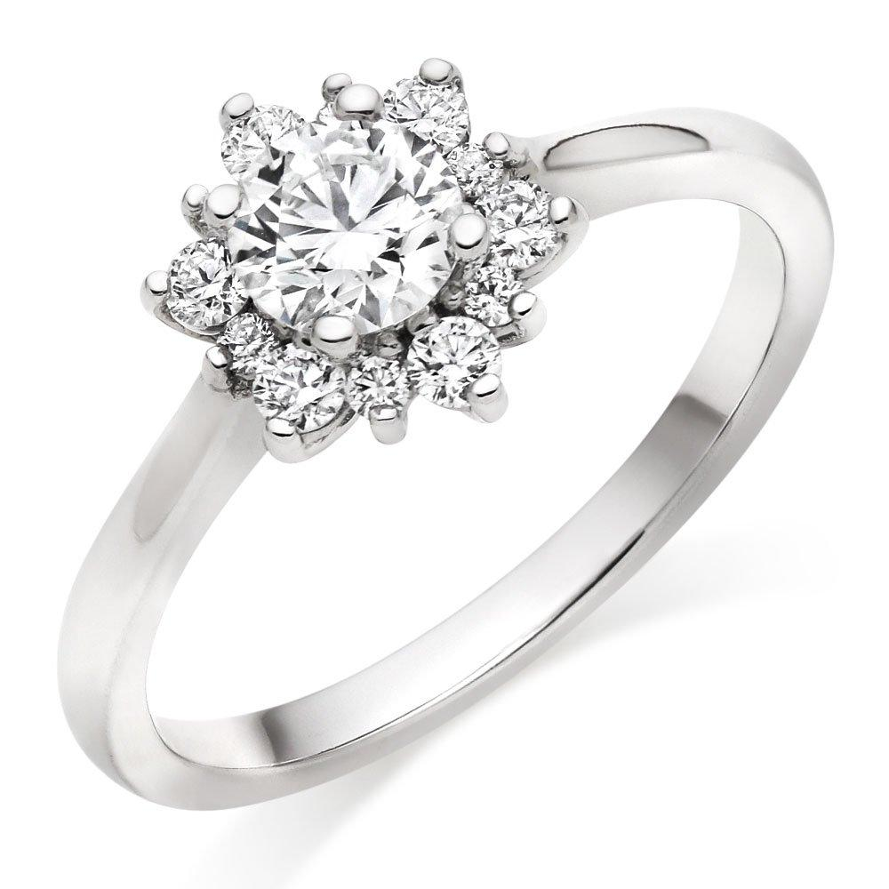 Hearts On Fire Delight Platinum Halo Diamond Ring