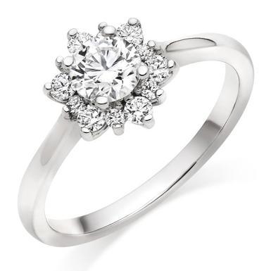 Hearts On Fire Delight Platinum Halo Diamond Ring