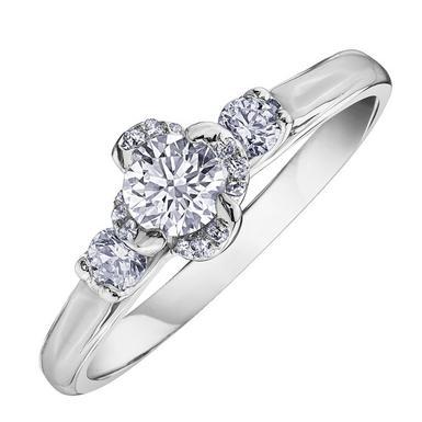 Maple Leaf Diamonds Wind's Embrace 18ct White Gold Diamond Ring