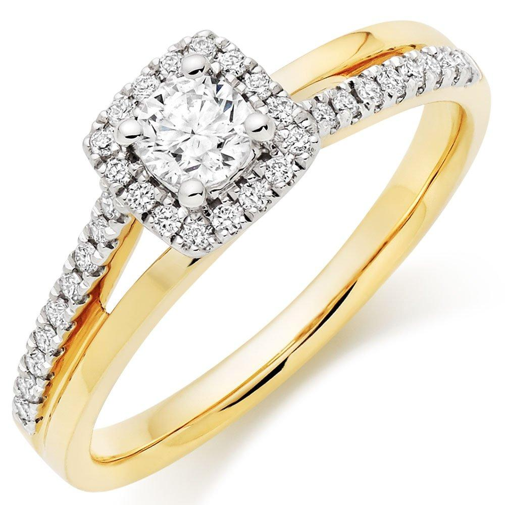 18ct Gold Diamond Halo Ring