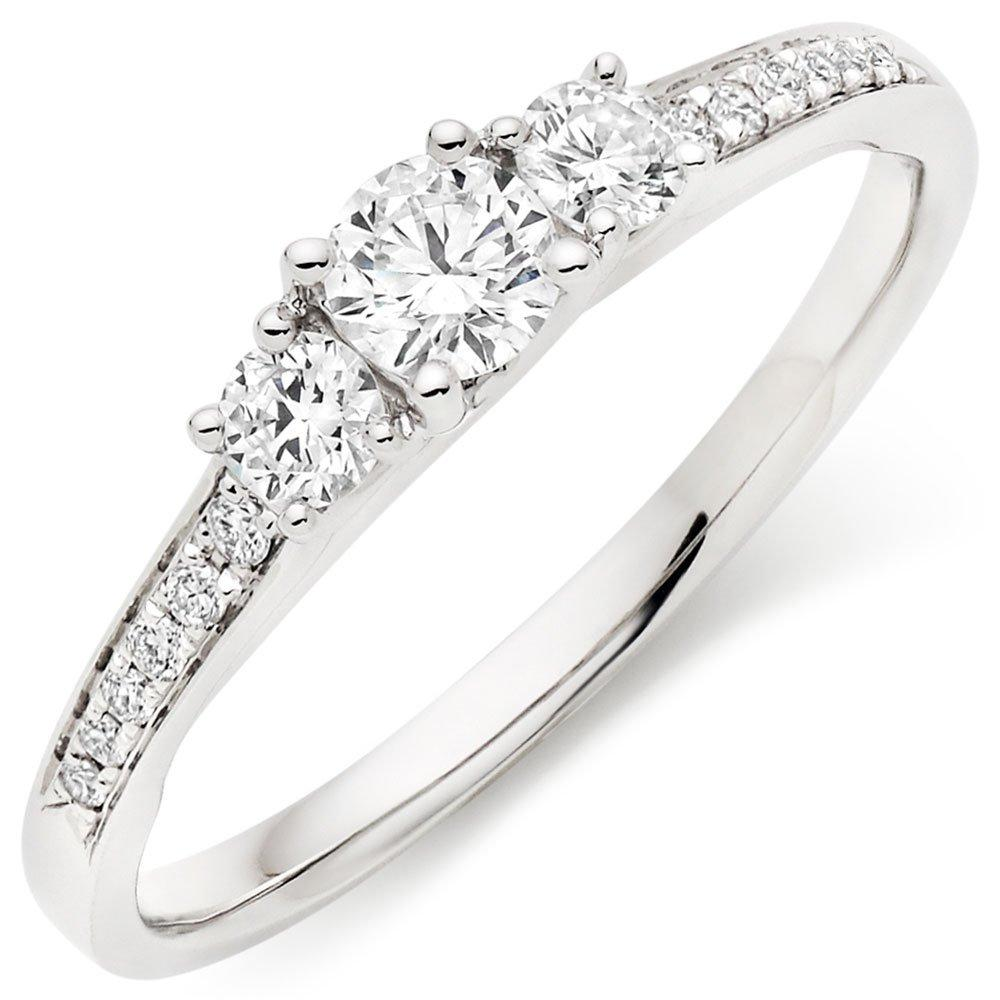 18ct White Gold Three Stone Diamond Ring