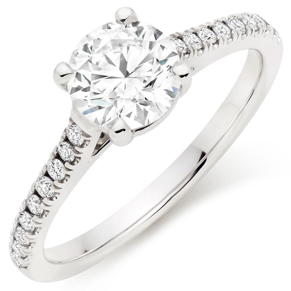 Once 18ct White Gold Diamond Solitaire Ring