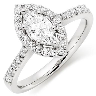 Platinum Diamond Marquise Ring