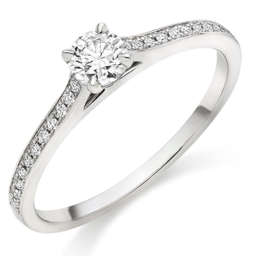 Hearts On Fire Illustrious Platinum Diamond Solitaire Ring