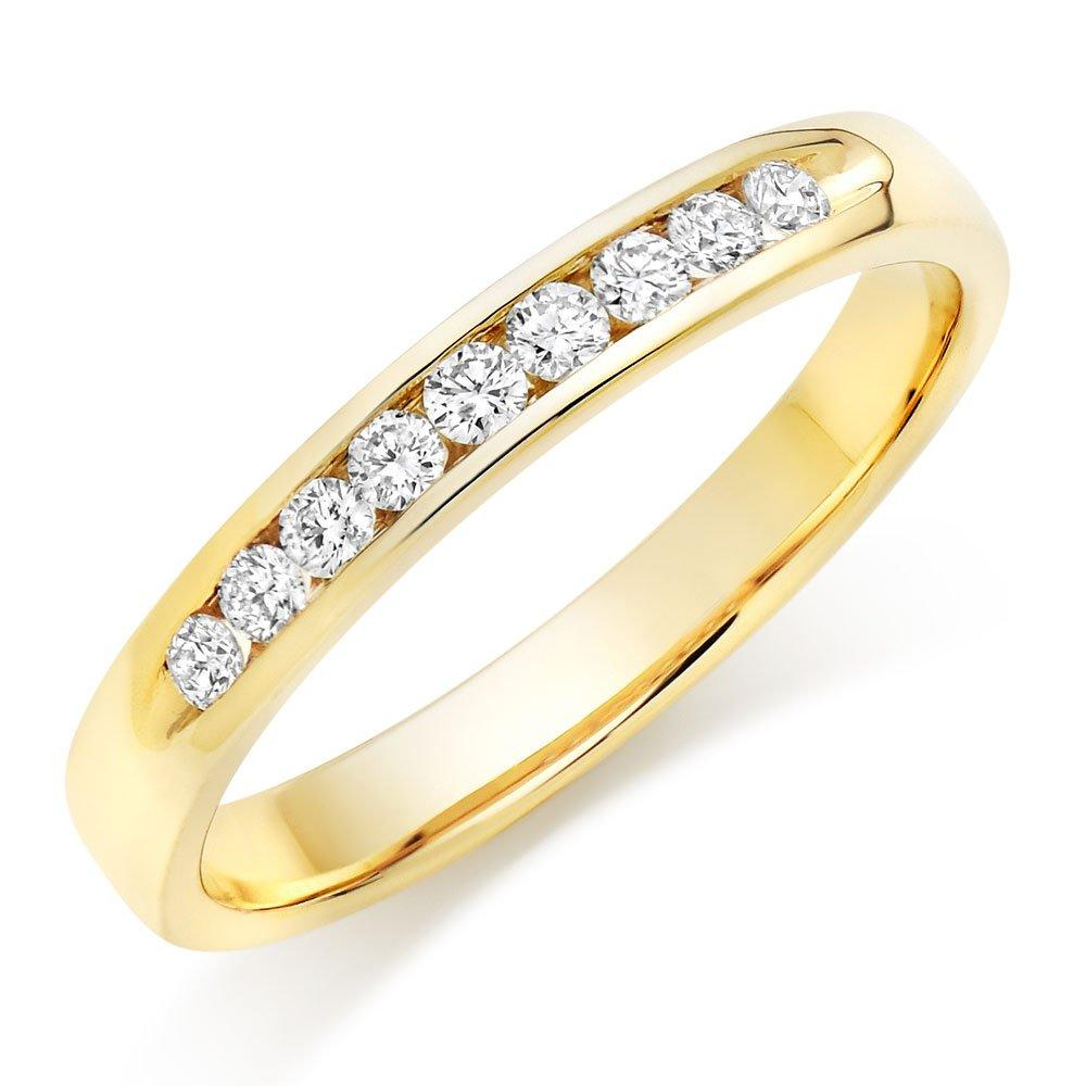 9ct Gold Diamond Half Eternity Ring