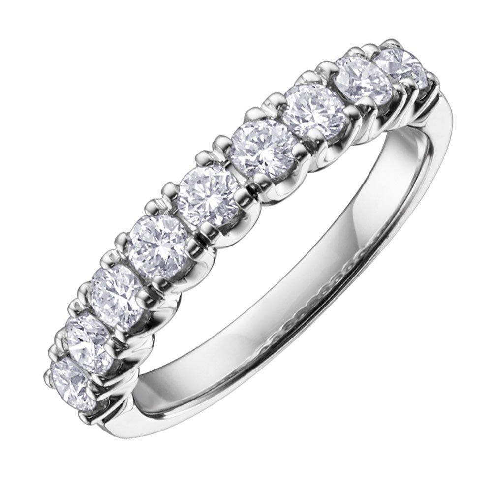 Maple Leaf Diamonds 18ct White Gold Diamond Half Eternity Ring