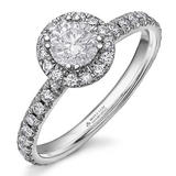 Maple Leaf Diamonds 18ct White Gold Diamond Halo Ring