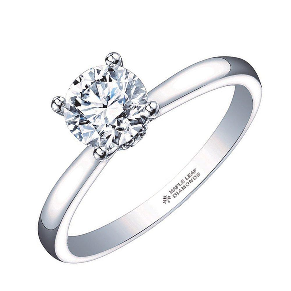 Maple Leaf Diamonds 18ct White Gold Diamond Solitaire Ring