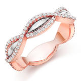 18ct Rose Gold Diamond Infinity Eternity Ring