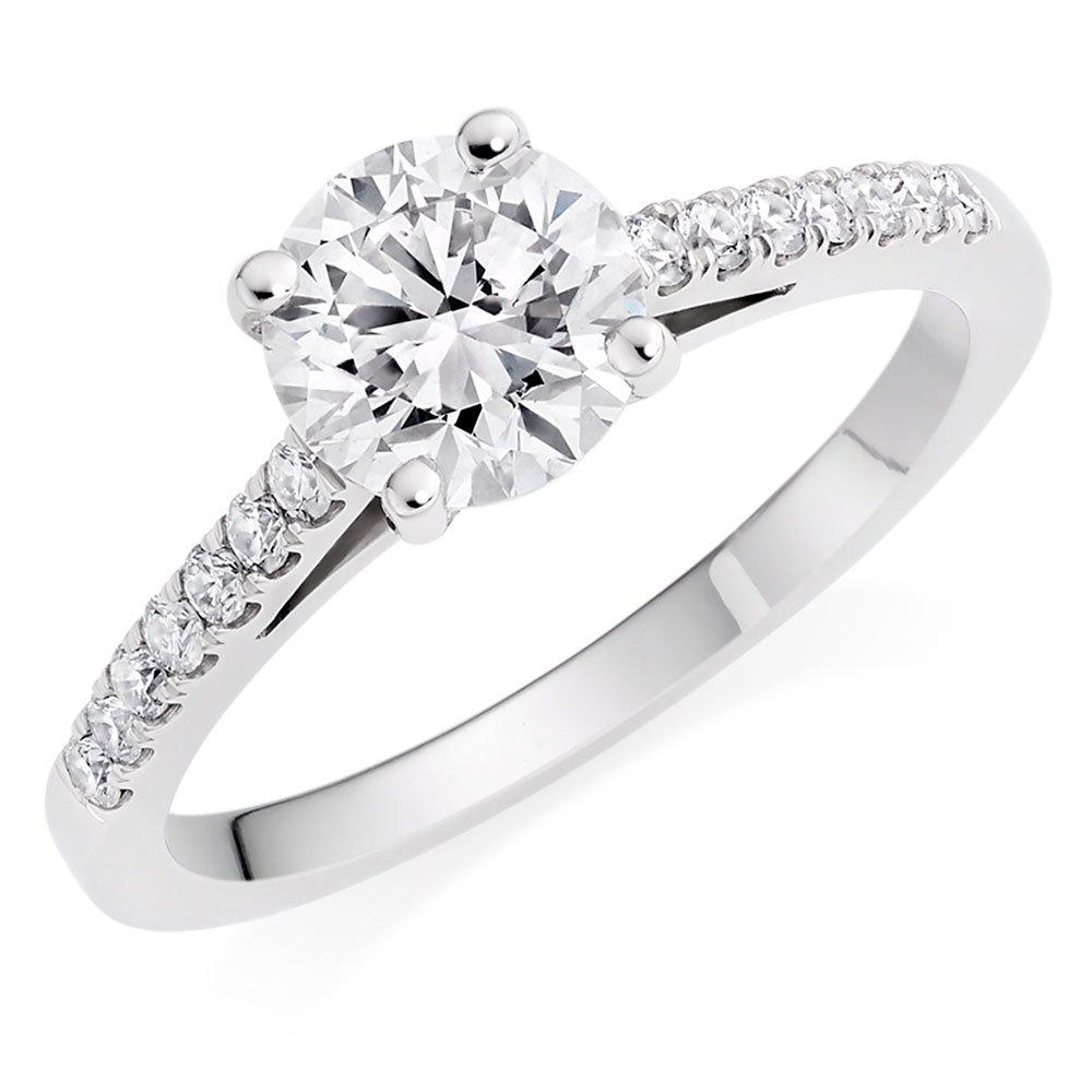 Once Platinum Diamond Solitaire Ring