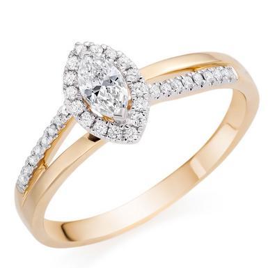 18ct Gold Marquise Diamond Ring