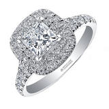 Maple Leaf Diamonds 18ct White Gold Princess Cut Diamond Halo Ring