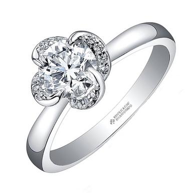 Maple Leaf Diamonds Wind's Embrace 18ct White Gold Diamond Solitaire Ring