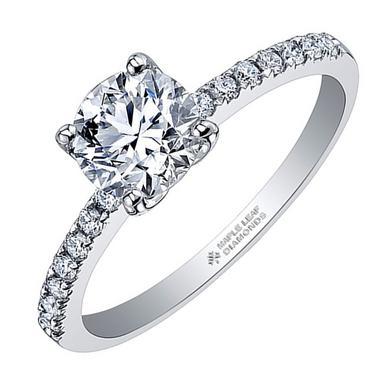 Maple Leaf Diamonds 18ct White Gold Diamond Solitaire Ring