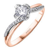 Maple Leaf Diamonds Wind's Embrace 18ct Rose Gold Diamond Ring
