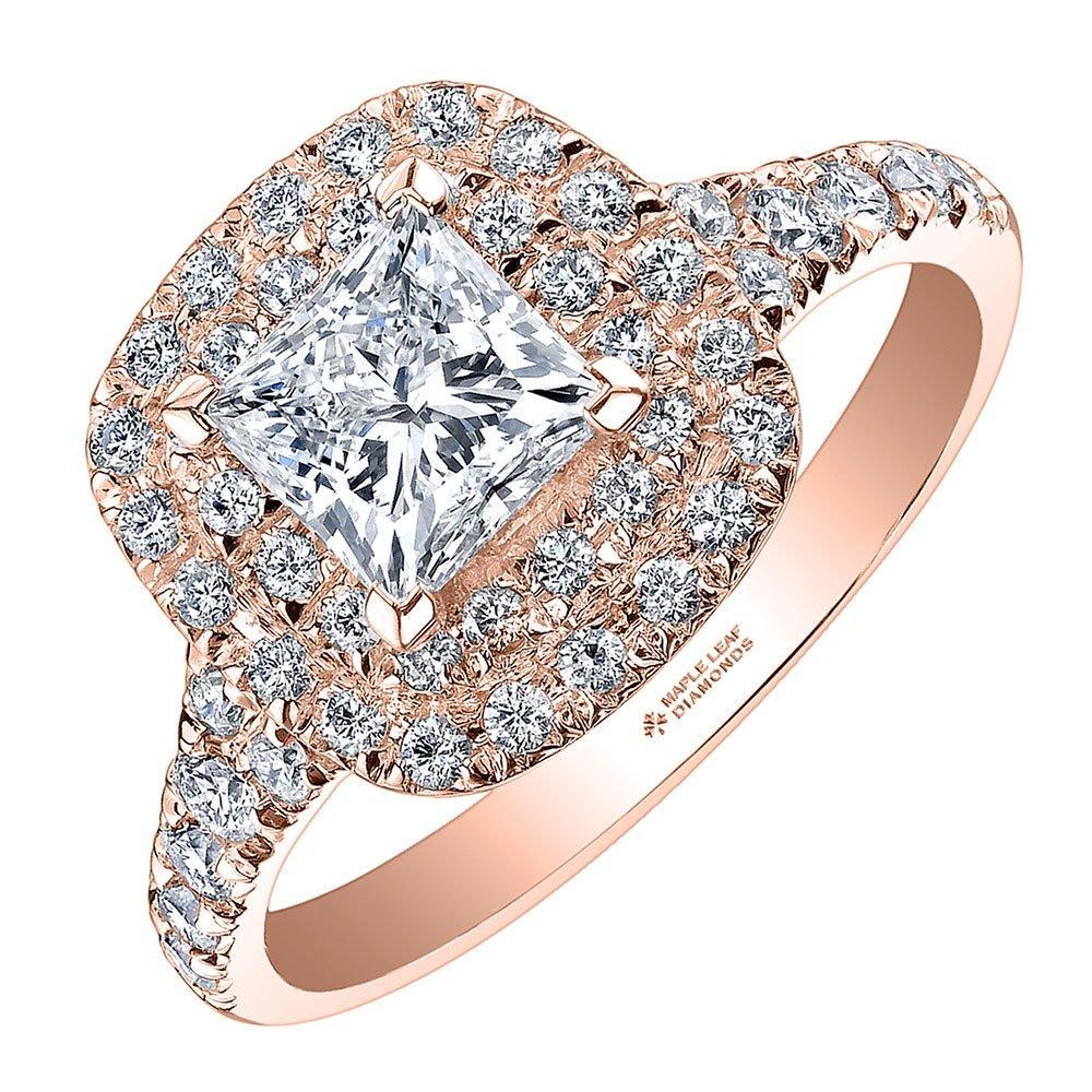 Maple Leaf Diamonds 18ct Rose Gold Diamond Ring