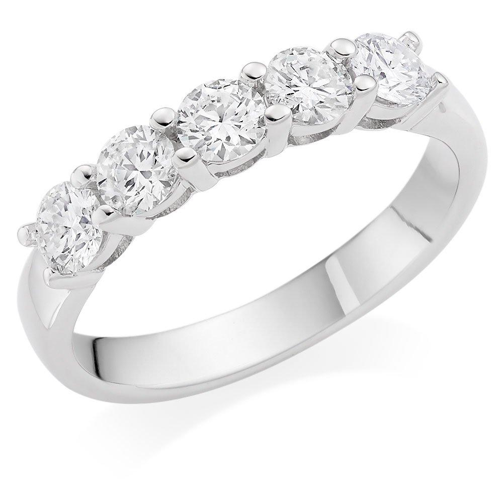 18ct White Gold Five Stone Diamond Ring