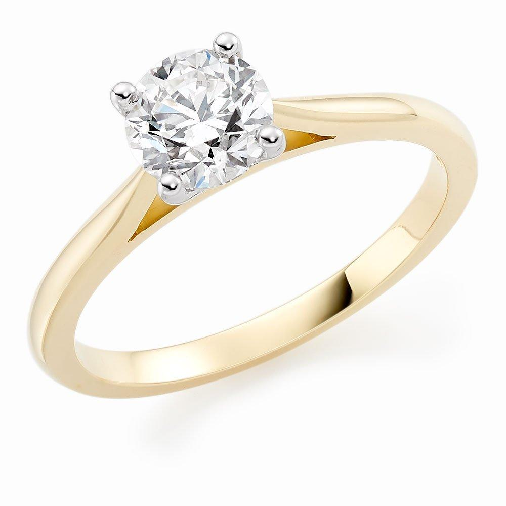 Once 18ct Gold Diamond Solitaire Ring