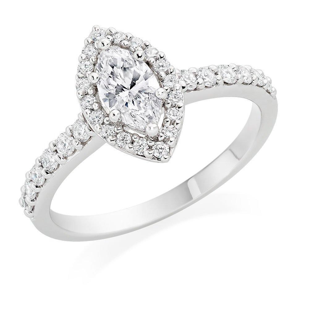 Platinum Diamond Marquise Ring