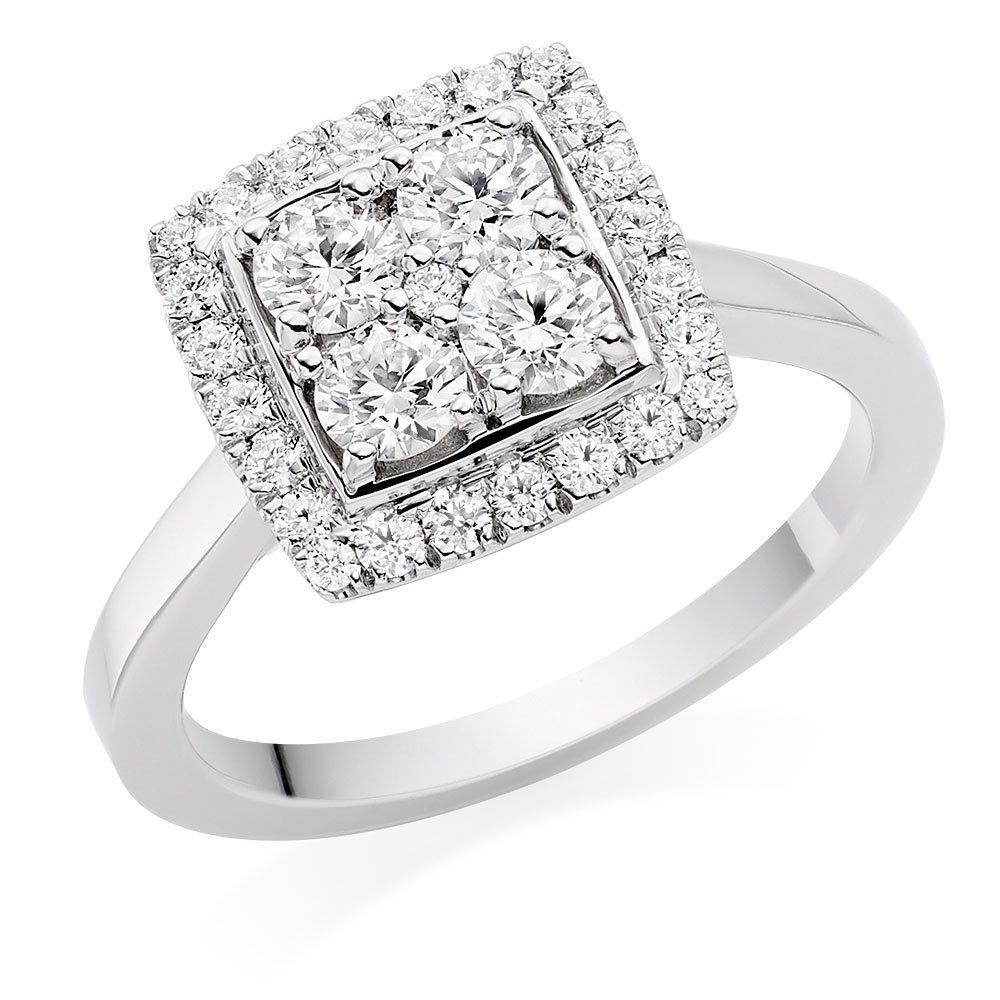 Hearts On Fire Scintillation Platinum Diamond Cluster Ring