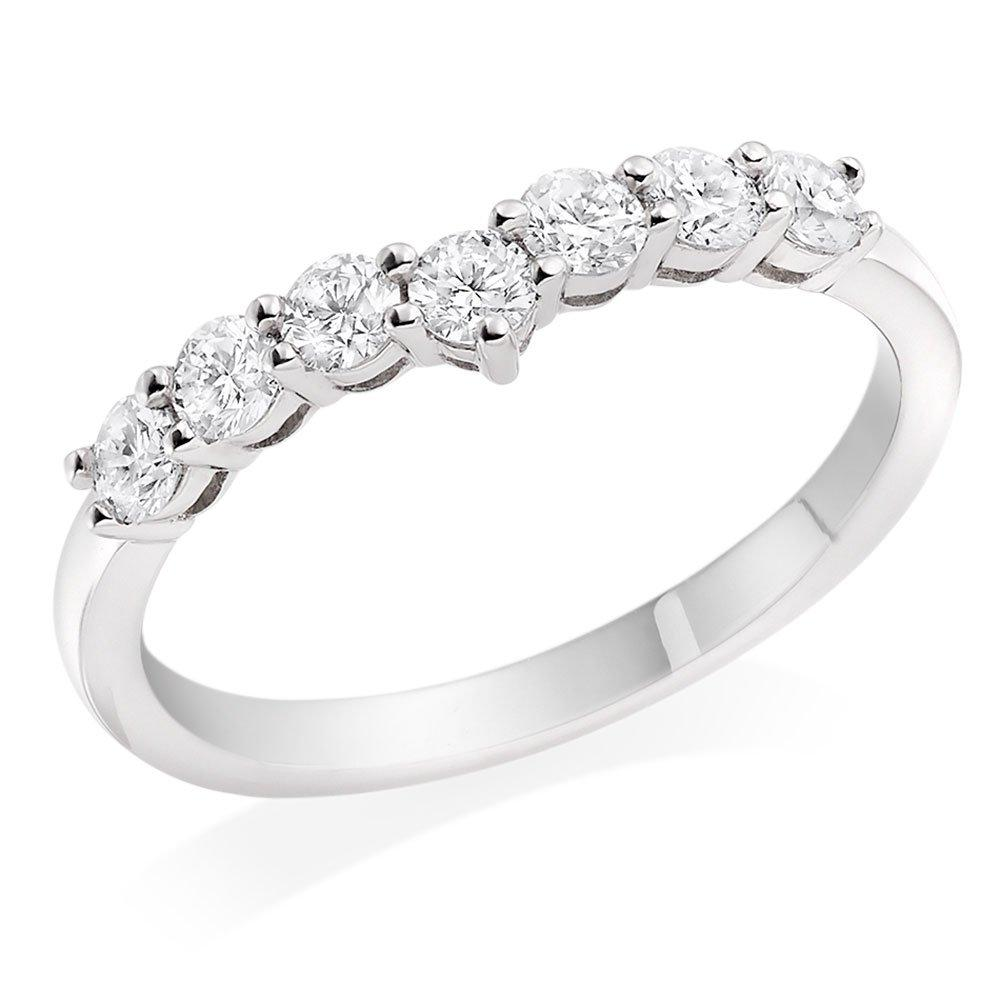 Platnium Diamond Shaped Half Eternity Ring
