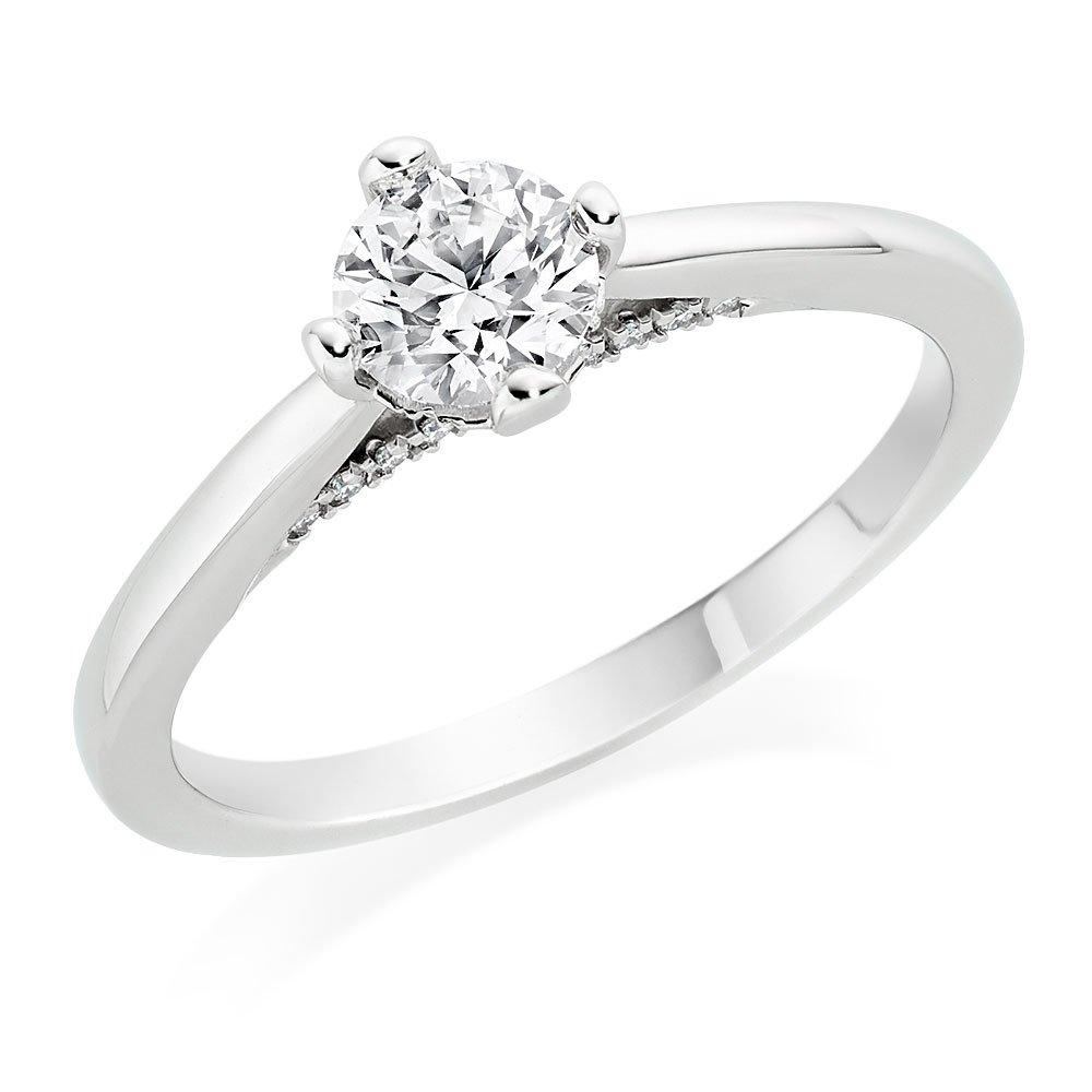 Hearts On Fire Platinum Diamond Ring