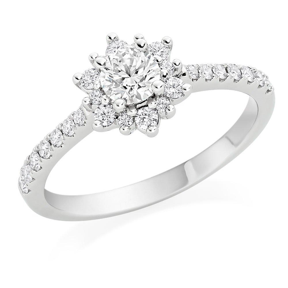 Hearts On Fire Delight Platinum Diamond Halo Ring