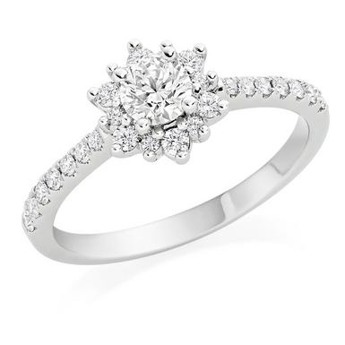 Hearts On Fire Delight Platinum Diamond Ring