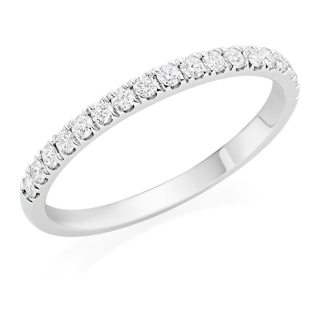 Hearts On Fire Juliette Half Eternity Platinum Diamond Half Eternity Ring