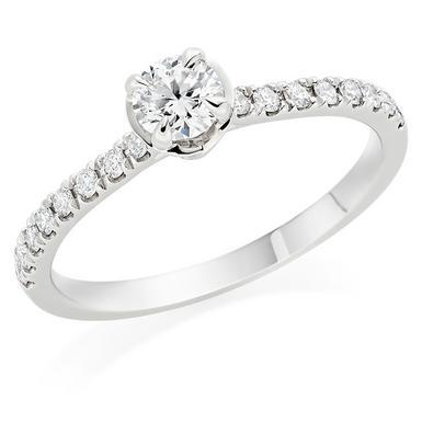 Hearts On Fire Juliette Platinum Diamond Solitaire Ring