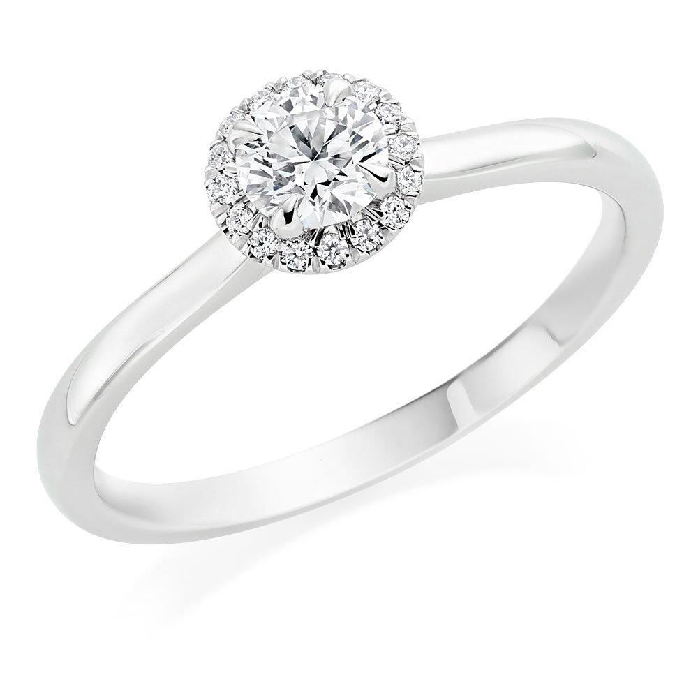 Hearts On Fire Juliette Platinum Diamond Halo Ring
