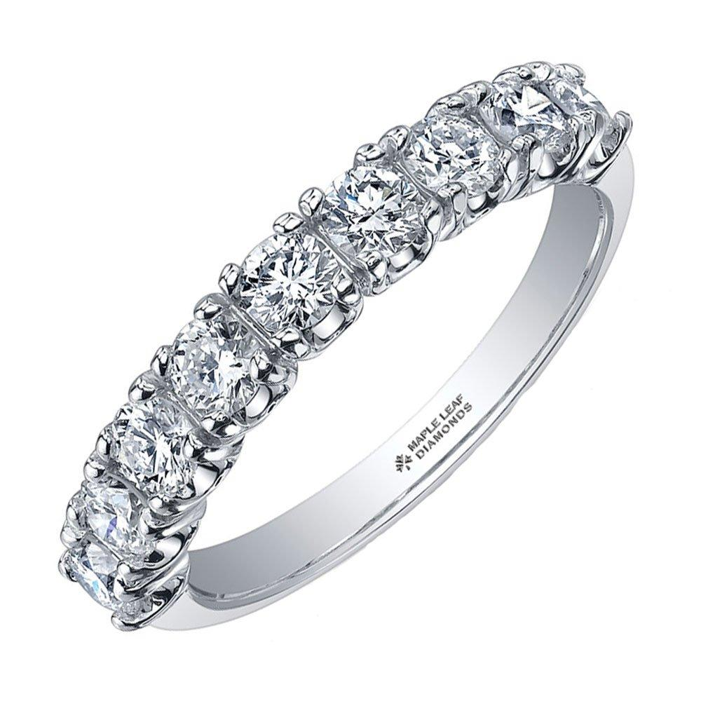 Maple Leaf Diamonds 18ct White Gold Diamond Half Eternity Ring