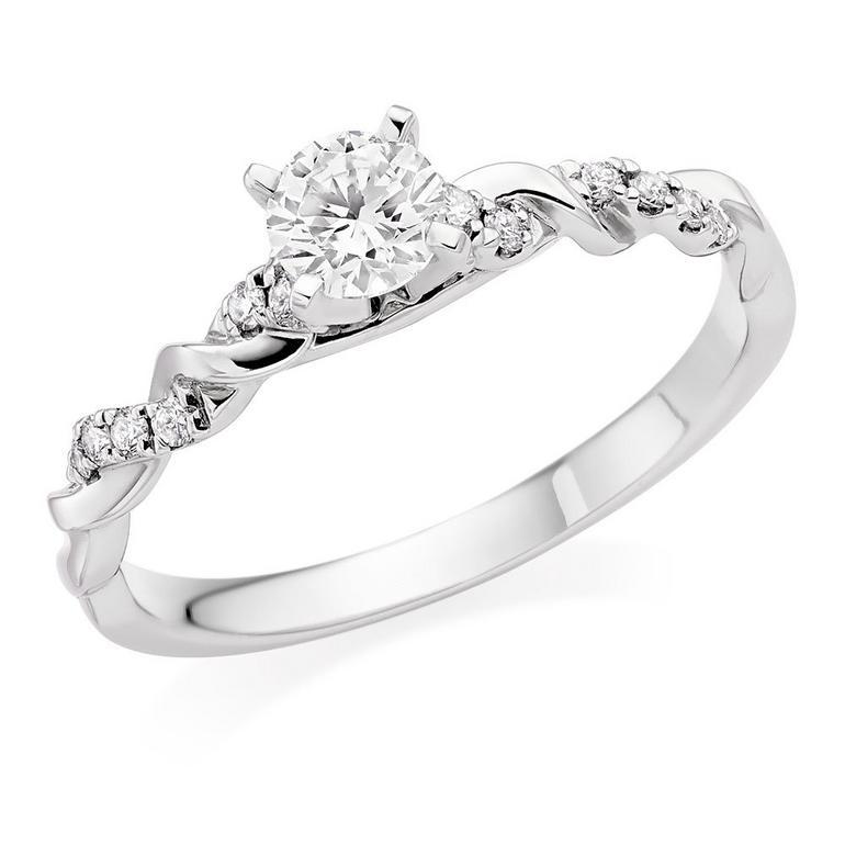 Entwine 18ct White Gold Diamond Ring