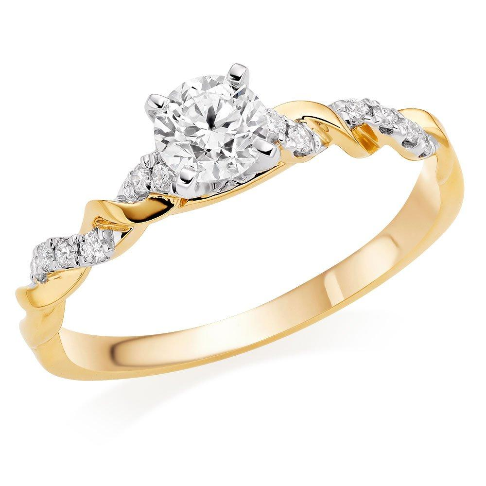 Entwine 18ct Gold Diamond Ring