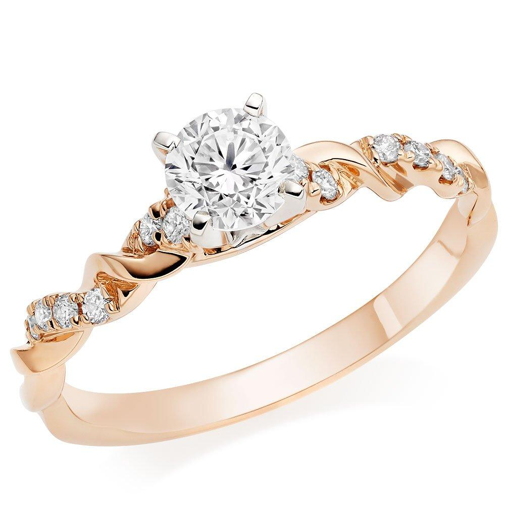 Entwine 18ct Rose Gold Diamond Ring