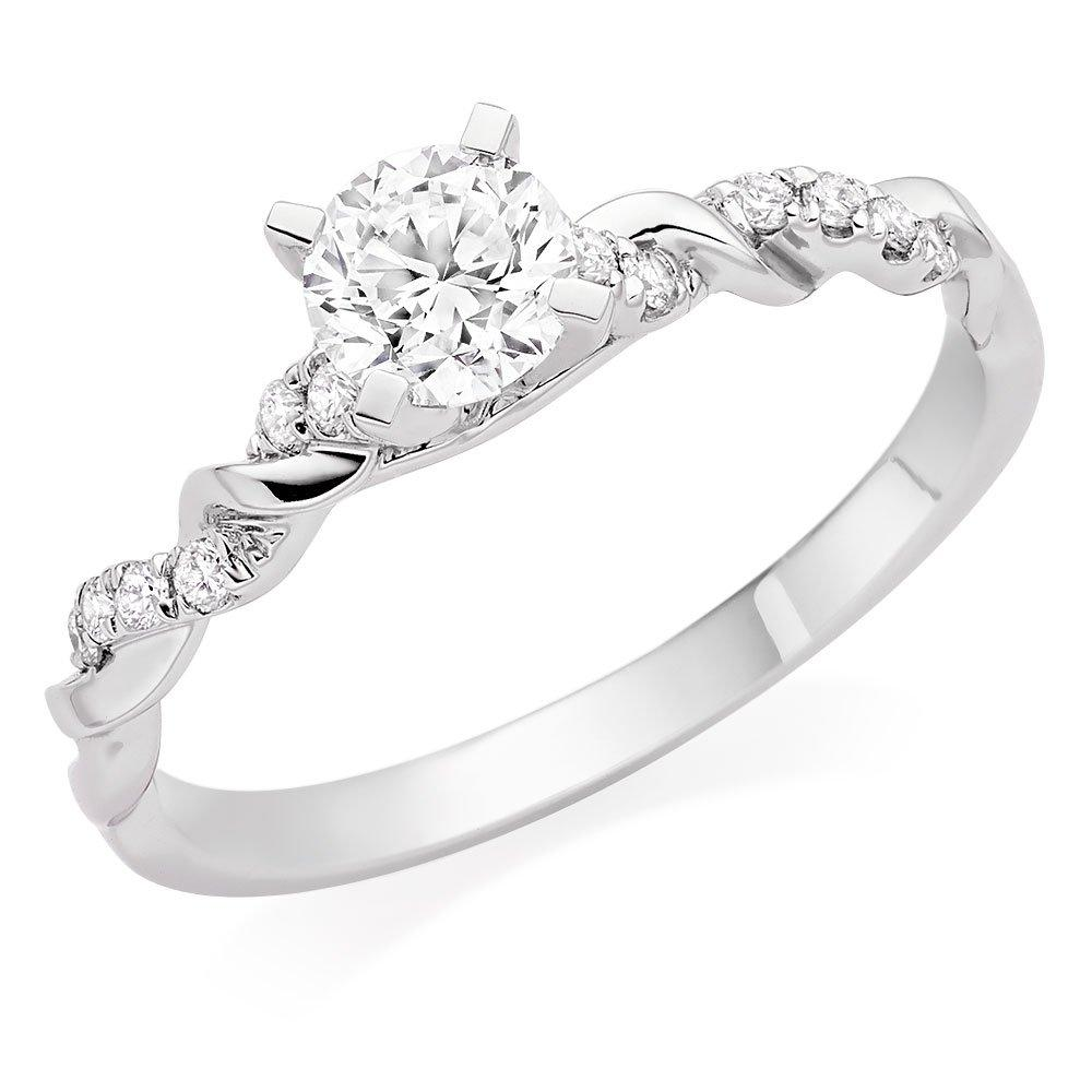 Entwine 18ct White Gold Diamond Solitaire Ring