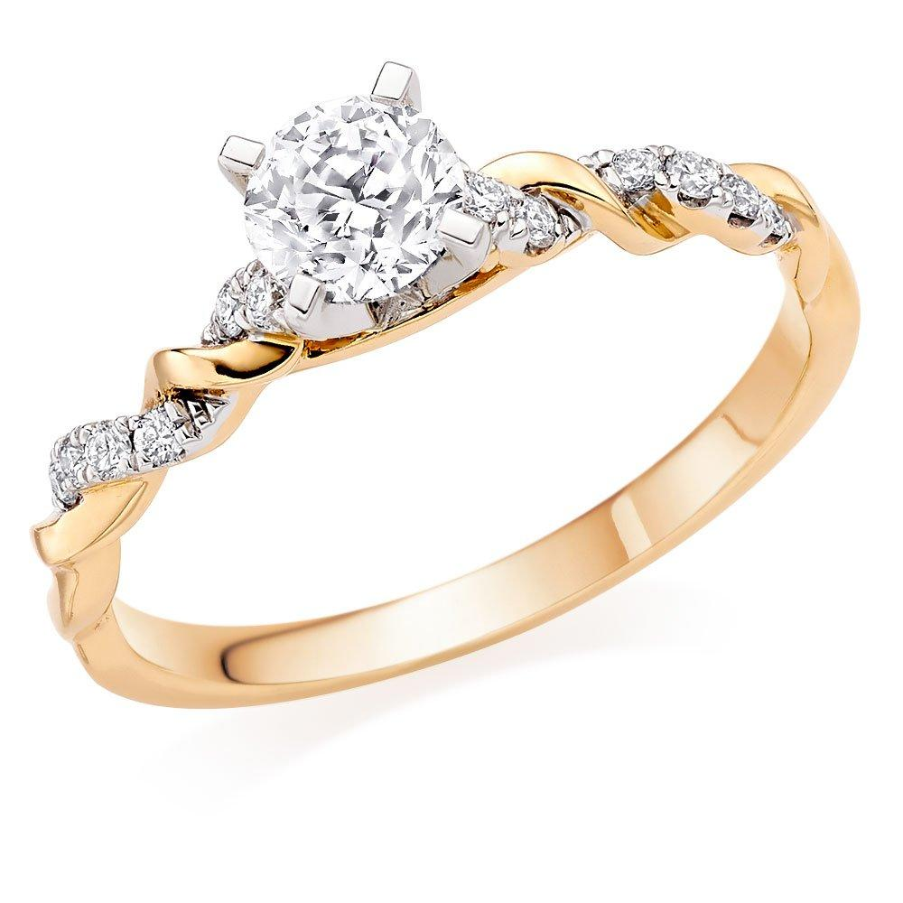 Entwine 18ct Gold Diamond Solitaire Ring