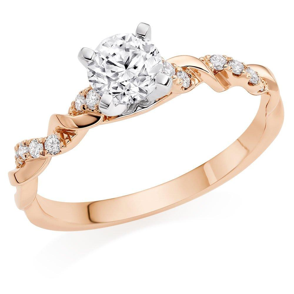 Entwine 18ct Rose Gold Diamond Ring