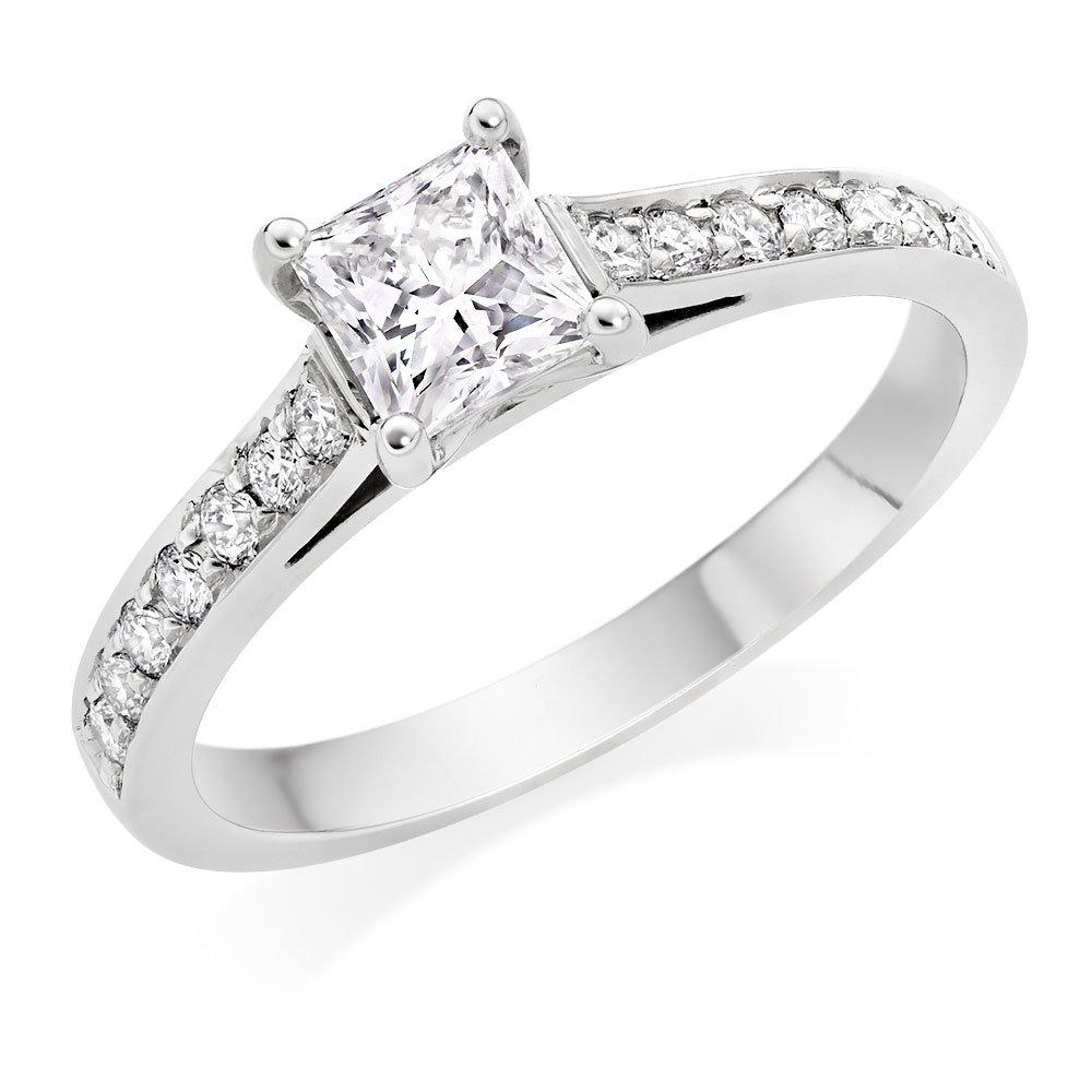 Once by Beaverbrooks Platinum Princess Cut Diamond Solitaire Ring