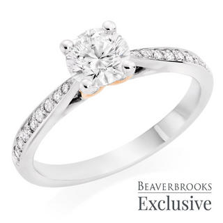 Beyond Brilliance 18ct White Gold and Rose Gold Diamond Solitaire Ring