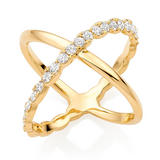 Hearts On Fire Lorelei 18ct Gold Diamond Cross Ring