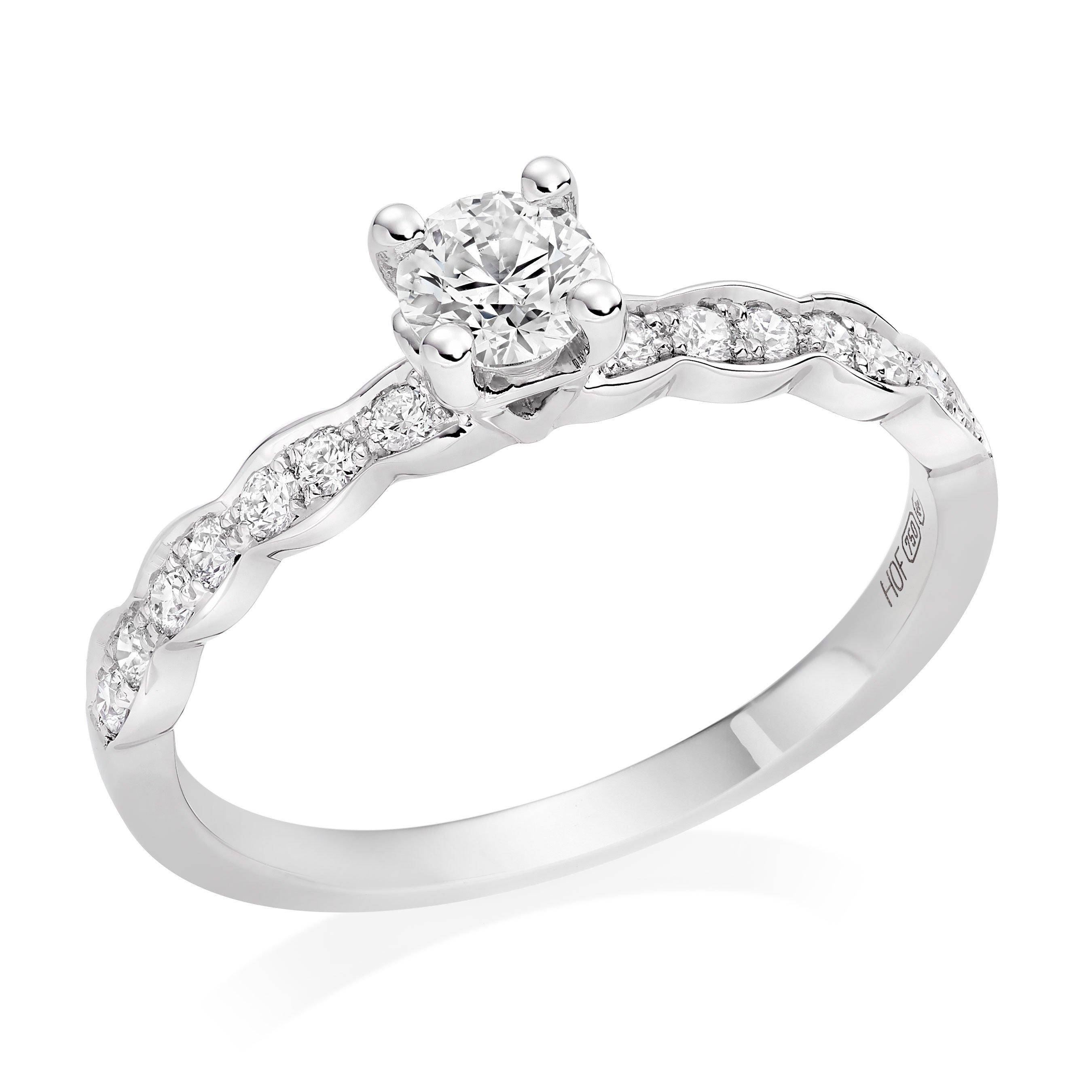 Hearts On Fire Lorelei 18ct White Gold Diamond Solitaire Ring