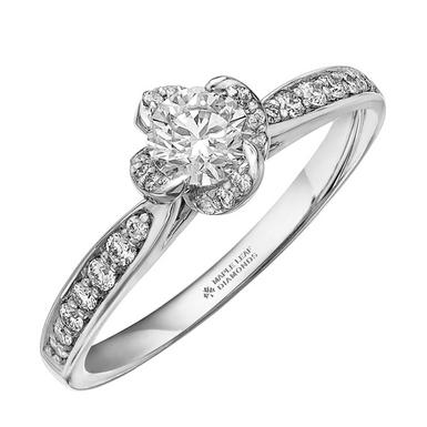 Maple Leaf Diamonds Wind's Embrace 18ct White Gold Diamond Ring